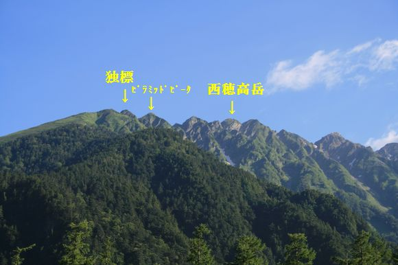 穂高岳 西
